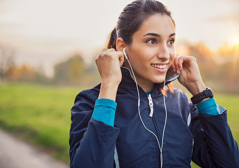 A running jacket is needed for when temperatures drop
