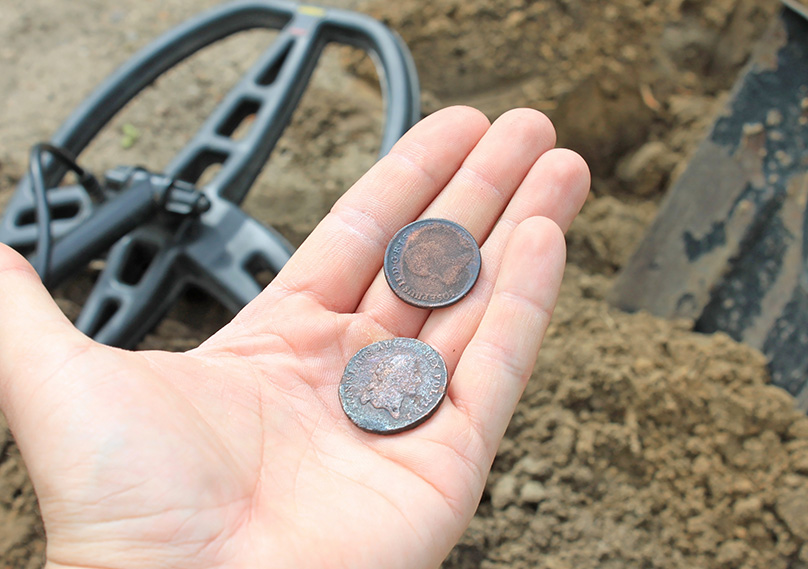 It's a thrill finding your first old coins