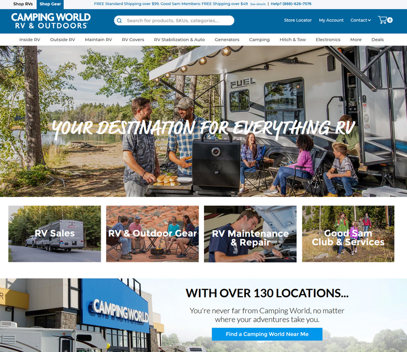 Camping World Website
